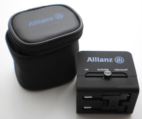 Travel adapter with printing