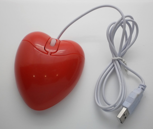 Heart shape optical mouse or wired mouse